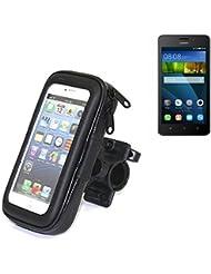 Montaje de la bici para Huawei Y635, montaje del manillar para smartphones / teléfonos móviles, de aplicación universal. Conveniente para la bicicleta, motocicleta, quad, moto, etc. repelente al agua, a prueba de salpicaduras a prueba de lluvia, sostenedor del teléfono móvil de la bicicleta.   Bastidores de bicicletas Bikeholder bicicletas Navi titular titular GPS Pannier Huawei Y635 manillar montar la caja al aire libre