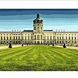 Interesante Paisajes Urbanos Del Palacio De Charlottenburg De Berlín Que Pintan Por Números Paisaje Para La Pared De La Sala De Estar 50X60CM
