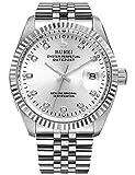 Best orologio automatico - BUREI Orologio da Polso al Automatico, Uomo, argento Review