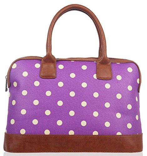 Kukubird Pois Tela Opaca Borsa Bowling Bag Con Sacchetto Di Polvere Di Kukubird Purple