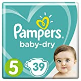 Pampers - Baby Dry - Couches Taille 5 (11-16 kg) - Pack Géant (x39 couches)