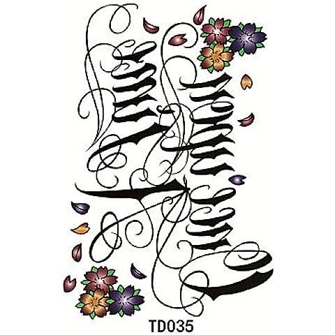 HJLWST® 1pcs temporanea lettera tatuaggio adesivo di ancoraggio corona croce