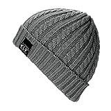 Gorro de Punto, Feixiang & # x2648; De Los Hombres/de Las Mujeres Baggy cálido Crochet Invierno Lana Knit Gorro de esquí Beanie cráneo Slouchy Caps