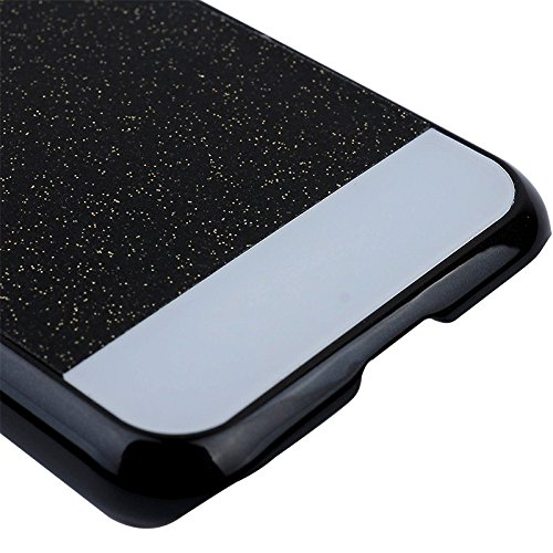 iPhone 6 6S Coque Protection de NICA, Ultra-Fine Glitter Housse Slim Hardcase Paillettes Cover, Etui Rigide Anti-choc Strass Bumper Mince pour Telephone Portable Apple iPhone 6S 6, Couleur:Argent Noir