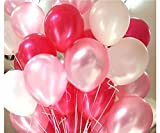 #5: AMFIN® 10 Inch (Pack of 50) Metallic Balloons Pink, Red & White for Birthday Decoration, Decoration for Weddings, Engagement, Baby Shower, 1st Birthday, Anniversary Party, Theme Party, Office Party