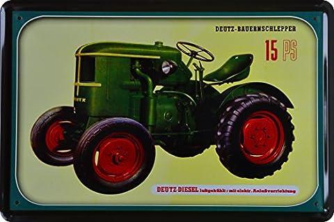 Deutz Farm Tractor 15HP Metal Sign 20x 30cm XT63