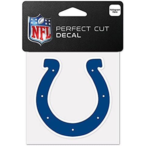 NFL Indianapolis Colts 63048011 Perfect Cut Color Decal, 4 x 4, Black by WinCraft