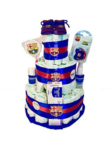 Tarta de pañales DODOT F.C.Barcelona MUSTELA Talla 2 3-6 kg