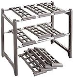WENKO 2768010100 Küchen-Unterschrankregal Flexi - variabel, Aluminium, 44-82 x 39 x 28 cm, Aluminium