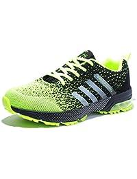 6077b24cd62f Senbore Chaussures de Sport basket Running Respirantes Athlétique Sneakers  Courtes Fitness Tennis Homme