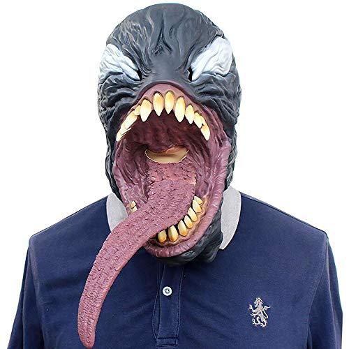 Halloween Unterhaltsame Maske Avengers Venom Maske Außergewöhnliche Spiderman Latex Haube Tödliche Wächter Maske Unisex 1 Stücke Stücke Erwachsene Geschenk,Gray,Onesize