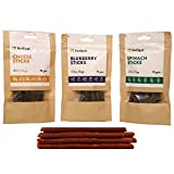 #8: Wowdogbox- PetSpot Vegetarian Dog Treats Combo Cheese, BlueBerry, Spinach Sticks, Pack Of 3 (210 GMS)