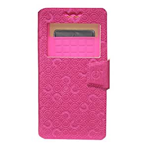 J Cover Astro Series Leather Pouch Flip Case With Silicon Holder For  Vivo Y21L  Exotic Pink