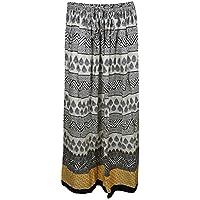 Mogul Interior Ladies Bohemain Vintage Skirt Printed Gypsy Peasant Holiday Spring Long Skirts Large