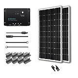 RENOGY 200W Solarpanel Komplett Set - 12 Volt Solar-Ladegerät - Solarmodul 100W - Monokristallin Solarzellen 12V für Camping Wohnwagen Boot