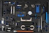 Bgs 4136Chariot Insert 3/3: Kit d'outils de réglage de moteur pour Ford, VAG, Mazda, Volvo