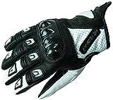 Heyberry Motorradhandschuhe Leder Motorrad Handschuhe kurz schwarz weiß Gr. M