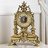 Simone Guarracino Horloge de Table Carlo III Style Baroque Or