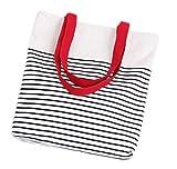 Drawihi 1PC borsa di tela uomini e donne non limitata stile strisce di colore rosso