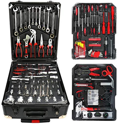 Com-four® xxl 190 pezz cassetta degli attrezzii, carrello, cassetta degli attrezzi (190 parti: cassetta degli attrezzi)