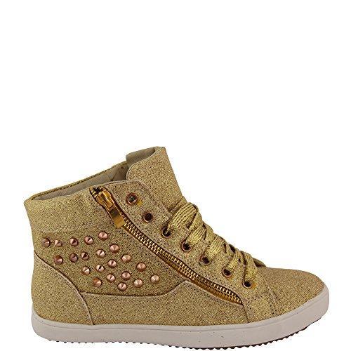 Unbekannt - Pantofole a Stivaletto Donna Giallo (oro)