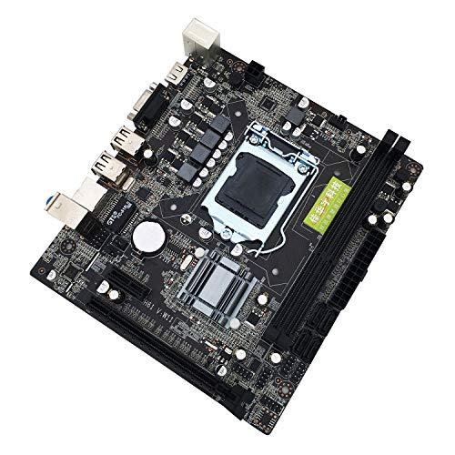 guoxuEE H61 Desktop-Computer Mainboard 1155 CPU-Schnittstelle USB2.0 VGA DDR3 1600/1333 Schwarz