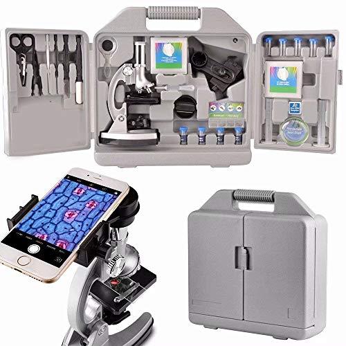 Moutec Sistema microscopio educativo niños, 300 x