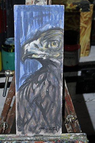 falco-dipinto-su-cartoncino-grigiodi-dimensioni-cm115x05x32cm-eseguito-con-tecnica-ad-acrilico-made-