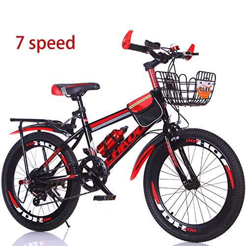Bike 7 Geschwindigkeit Kinderfahrräder Fahrräder 18 Zoll 20 Zoll Mountainbikes Für Jungen Und Mädchen,Red1,20In -