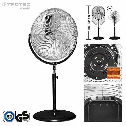TROTEC Ventilador de pie TVM 18 S | 120 W potencia |...