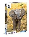 Clementoni 27999 - Puzzle 104 WWF - Elefante