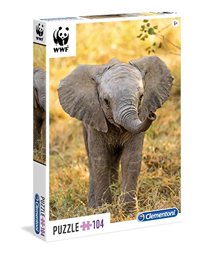 Clementoni - WWF Puzzle 104 Piezas, Little Elephant (27999)