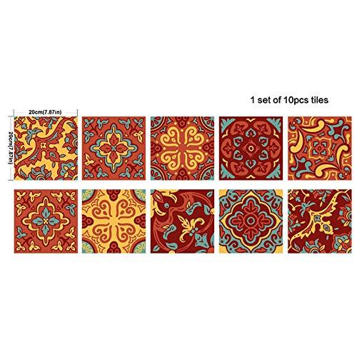 Spanisch töpferware stil fliesen aufkleber dekoration diy wasserdicht abnehmbare wandaufkleber küche bad kunst dekor
