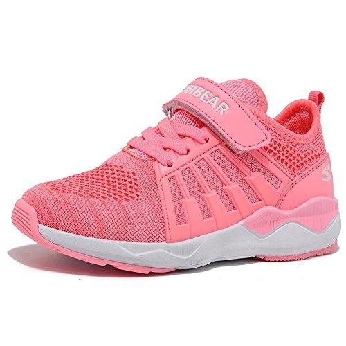 Kinder Sneaker Jungen Mädchen Laufschuhe Unisex-Kinder Outdoor Sport Schuhe, Gr.-35 EU=36 CN, Rosa