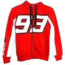 Marc Marquez 93 grande Moto GP Zip mujeres sudadera con capucha polar rojo 2015
