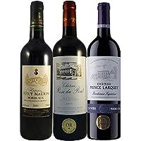 Coffret 3 Vins Bordeaux Millésime Exceptionnel: Château Haut-Maurin 2015, Châteaux Prince Larquey 2015, Château Rose Du Pont 2015 (3X75Cl)