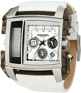 diesel dz7157 chronographe montre homme bracelet en cuir blanc diesel montres. Black Bedroom Furniture Sets. Home Design Ideas