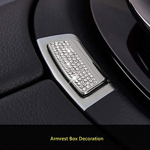 HDCF Kristall Diamanten Armlehne Box Dekoration Aufkleber/Bling Strass Schnecke Armlehne Box Schalter Taste Abdeckung Für GLC X253 C Klasse E W213 -