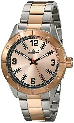 rren-Armbanduhr 45mm Armband Edelstahl 18K Gold beschichtetes Edelstahl Quarz 17931 ()