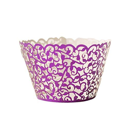 12st Hochzeit Filigree Weinlese Kuchen Verpackungen Wraps Fall Hohle Papier Dekoration (Weinlese-hochzeits-kuchen-dekoration)