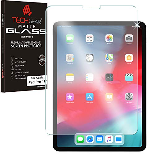 TECHGEAR iPad Pro 11 Matt Panzerglas - Matte Blendschutz Panzerglas Auflage, Original-gehärtetes Glas-Displayschutzfolie kompatibel mit Apple iPad Pro 11 Zoll -