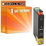 Gorilla-Ink® 1x Tinten-Patrone XXL kompatibel zu Epson GI1281 Black Stylus Office BX 305 F BX 305 FW BX 306 FW + S 22 SX 125