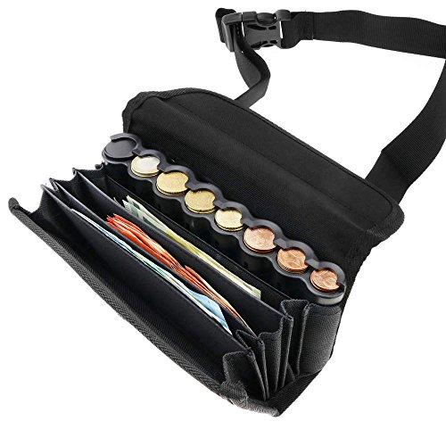 Cartera de camarero para billetes y monedas con cinturón con clasificador monedas de euro magnético de PrimeMatik