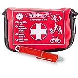 Buy and Happy GbR Erste Hilfe Set mit Zeckenzange für (Reisen, Outdoor, Sport)| in kleiner Verpackung mit Erste Hilfe Karte | überall zu verstauen (Zeckenzange + Wundmed)