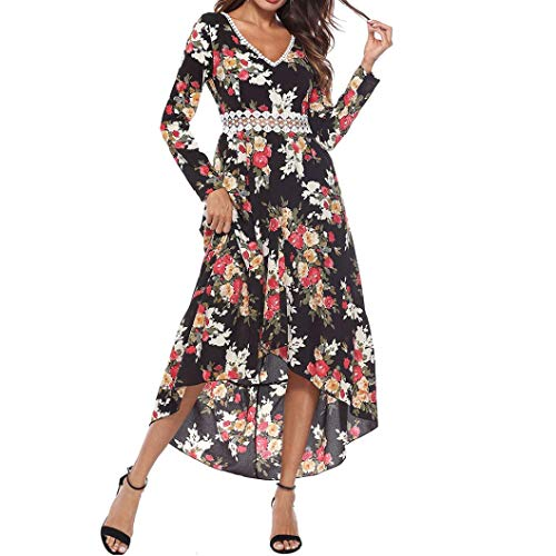 Btruely Damen Kleider V-Ausschnitt Abendkleid Sommerkleid Boho Maxikleid Casual Strandkleid Long...