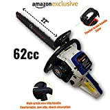 "Tools Centre™ Professional Qualtiy 62CC 2.5KW 22"" Guide Bar & Chain Gasoline Chainsaw"
