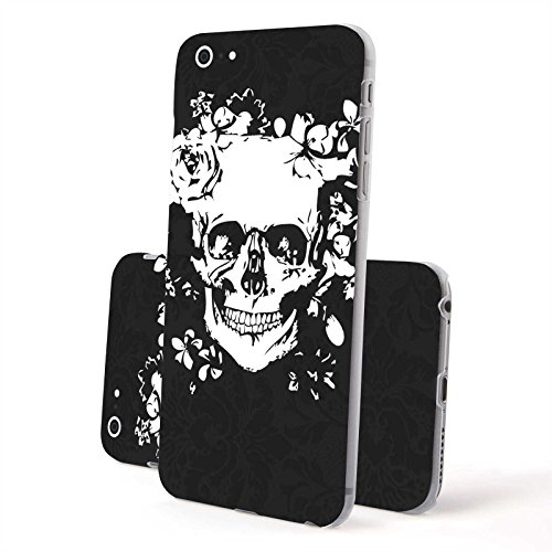 FINOO ® | Iphone 6 / 6S Plus Hardcase Handy-Hülle | Transparente Hart-Back Cover Schale mit Motiv Muster | Tasche Case mit Ultra Slim Rundum-schutz | stoßfestes dünnes Bumper Etui | Köln Totenkopf