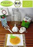 Original-Kombucha-Komplett-Set OkiraVit® XL-Premium mit 5 L Gärglas, Anleitung und Anwuchsgarantie. Aus dem Heilbad Bad Kohlgrub.