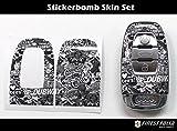 Stickerbomb SchwarzWeiß Folie von Finest-Folia Dekor Schlüssel Audi A4 B8 S4 RS4 A5 S5 8T A6 S6 4F 4G No Carbon