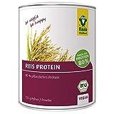 Raab Vitalfood Bio Reis-Protein Pulver mit 80 % pflanzlichem Eiweiß, aus biologischem Anbau, vegan, laborgeprüft in Deutschland, für Shakes, 125 g